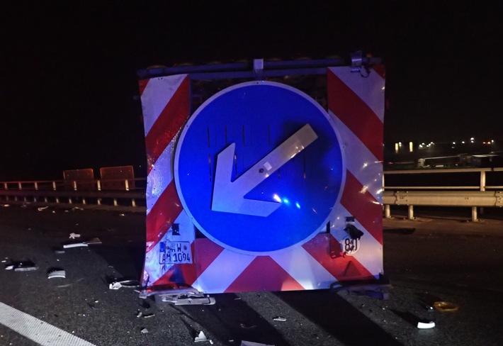 POL-VDMZ: Sattelzug prallt auf Sicherungsanhänger