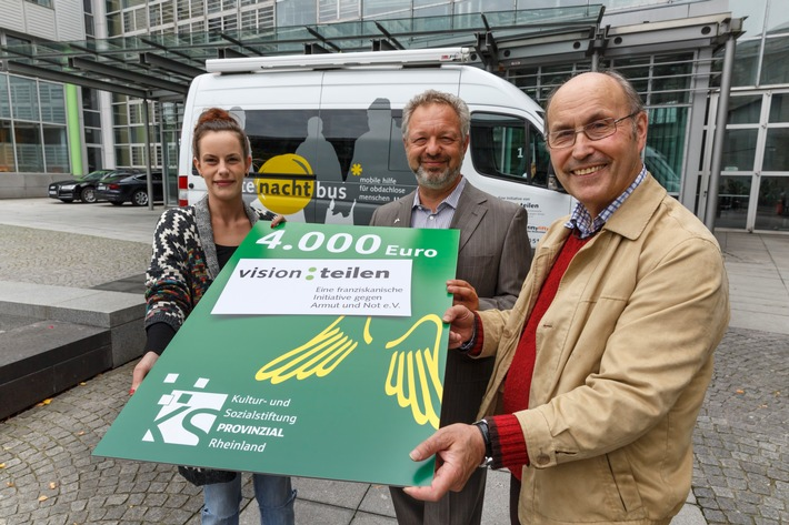 """Spende für den Düsseldorfer """"gutenachtbus"""""""