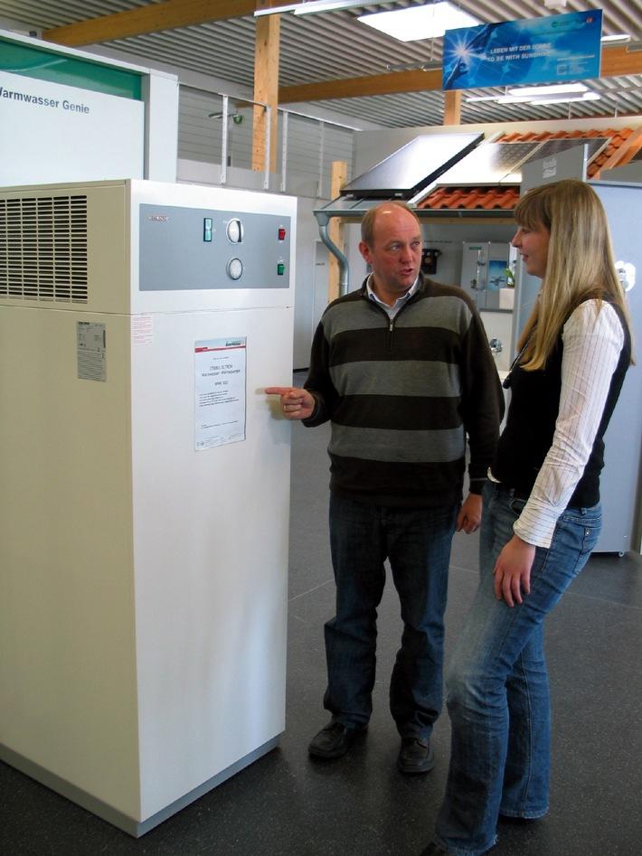 """""""Warmes Wasser für einen Euro pro Person und Woche"""" / Günstiger Einstieg in die Wärmepumpentechnik (mit Bild)"""