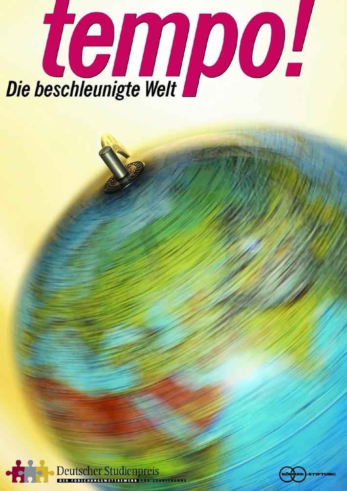 Wettbewerbsstart beim Deutschen Studienpreis / Neue Ausschreibung: Tempo! - Die beschleunigte Welt