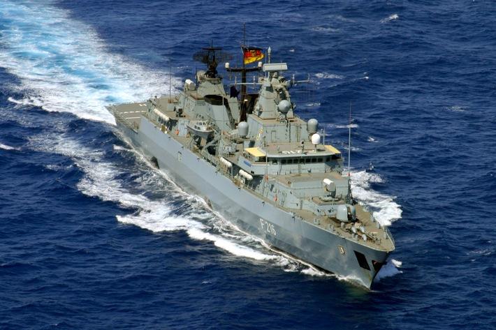 """Marine - Pressemeldung/Pressetermin: Anti-Piraterie-Einsatz beendet: Fregatte """"Schleswig-Holstein"""" kehrt vom Horn von Afrika zurück (mit Bild)"""