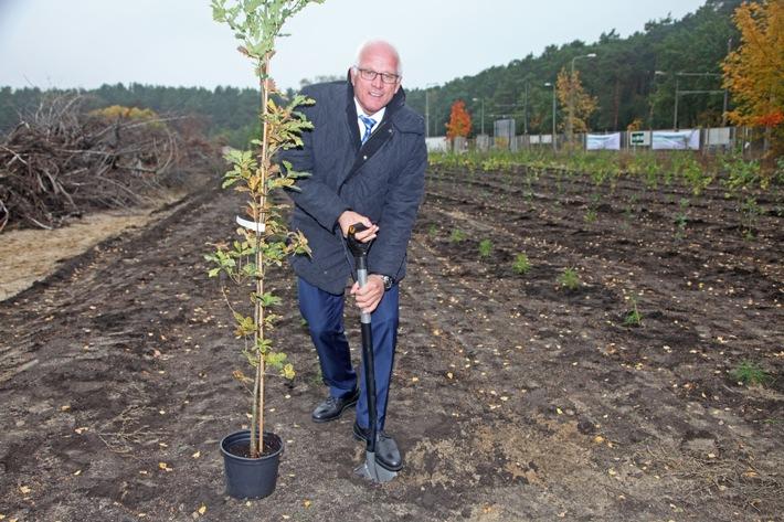 Der Grüne Woche-Wald wächst weiter: Pflanzaktion anlässlich des 1. Deutschen Waldtages leistet Beitrag zur Renaturierung des ehemaligen Reifenwerkes in Berlin-Köpenick