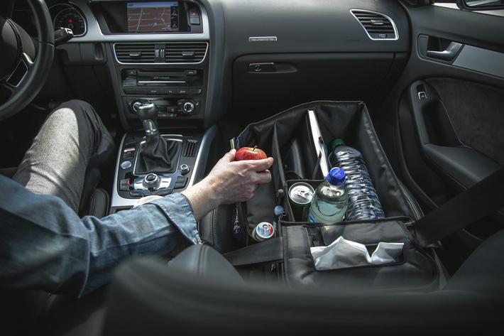 Slotpack: Organisierter Beifahrer und dritte Hand - cleveres Autozubehör für Vielfahrer, Eltern, Hundebesitzer & Co.