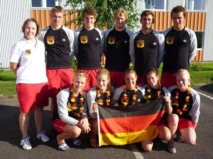 Dreimal Gold bei den Junioren-Europameisterschaften der Rettungsschwimmer / DLRG-Mannschaft wird in Schweden Vize-Junioren-Europameister