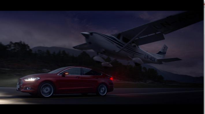 """Start des TV-Spots """"Nachtflug"""" für den neuen Ford Mondeo - inszeniert von Kult-Regisseur Rob Cohen"""