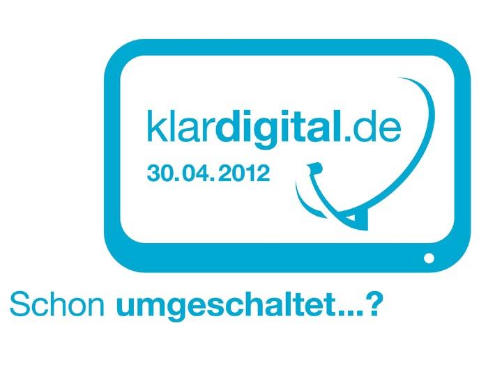 """Analoge Satellitenausstrahlung endet am 30. April 2012 Serviceseiten der Initiative """"klardigital 2012"""" im Videotext (mit Bild)"""