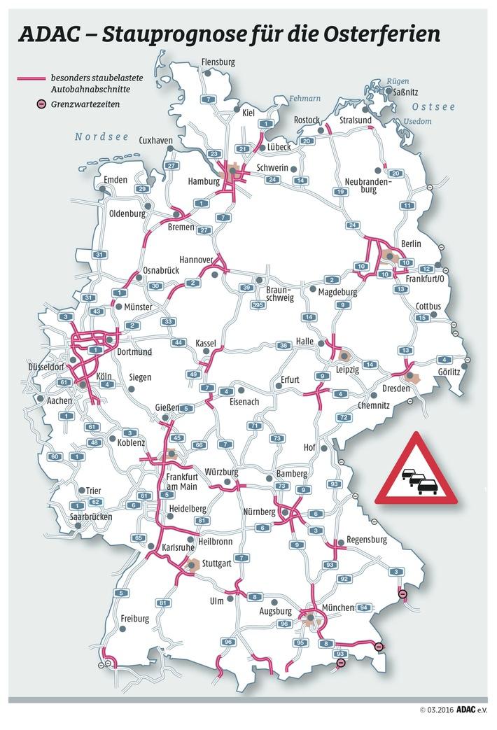 Jetzt rollt die erste große Reisewelle / ADAC-Stauprognose für den 24. bis 28. März