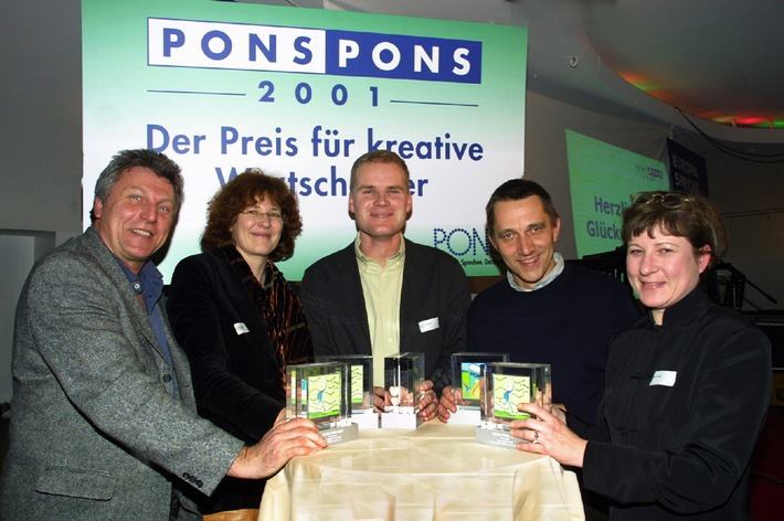 """K-Frage - Teuro - Karasex: Medienpreis """"PONS PONS 2001"""" für neun kreative Wortschöpfer"""