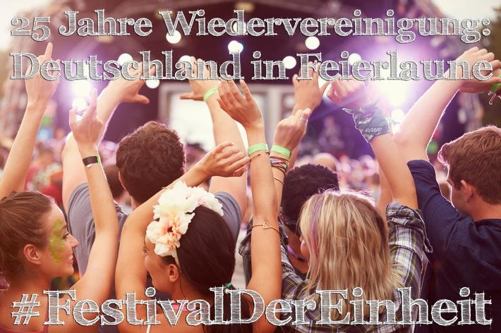 25 Jahre Wiedervereinigung: Deutschland in Feierlaune
