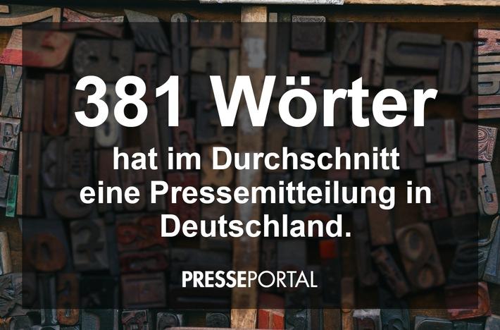 381 Wörter - so lang ist eine Pressemitteilung im Durchschnitt