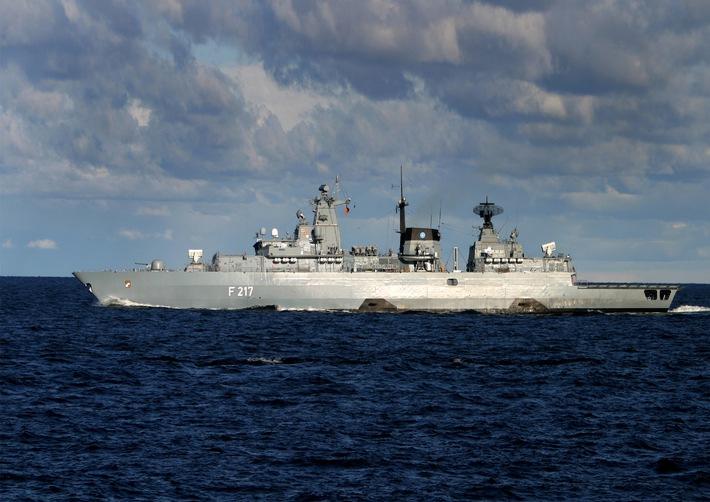 """Fregatte """"Bayern"""" bricht zum Horn von Afrika auf"""