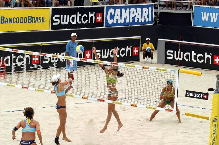 Perfekte Partnerschaft: Die SWATCH-FIVB World Tour gibt's weitere vier Jahre
