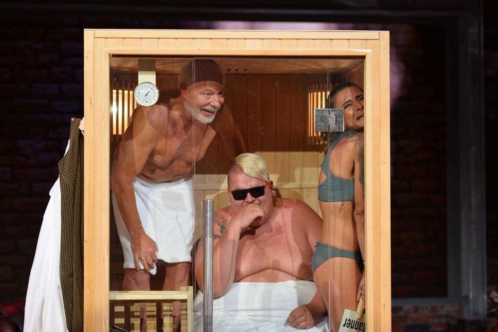 """Was macht Sophia Thomalla mit Bill Mockridge in der Sauna? """"LUKE! Die Woche und ich"""" am Sonntag, 30. Oktober in SAT.1"""