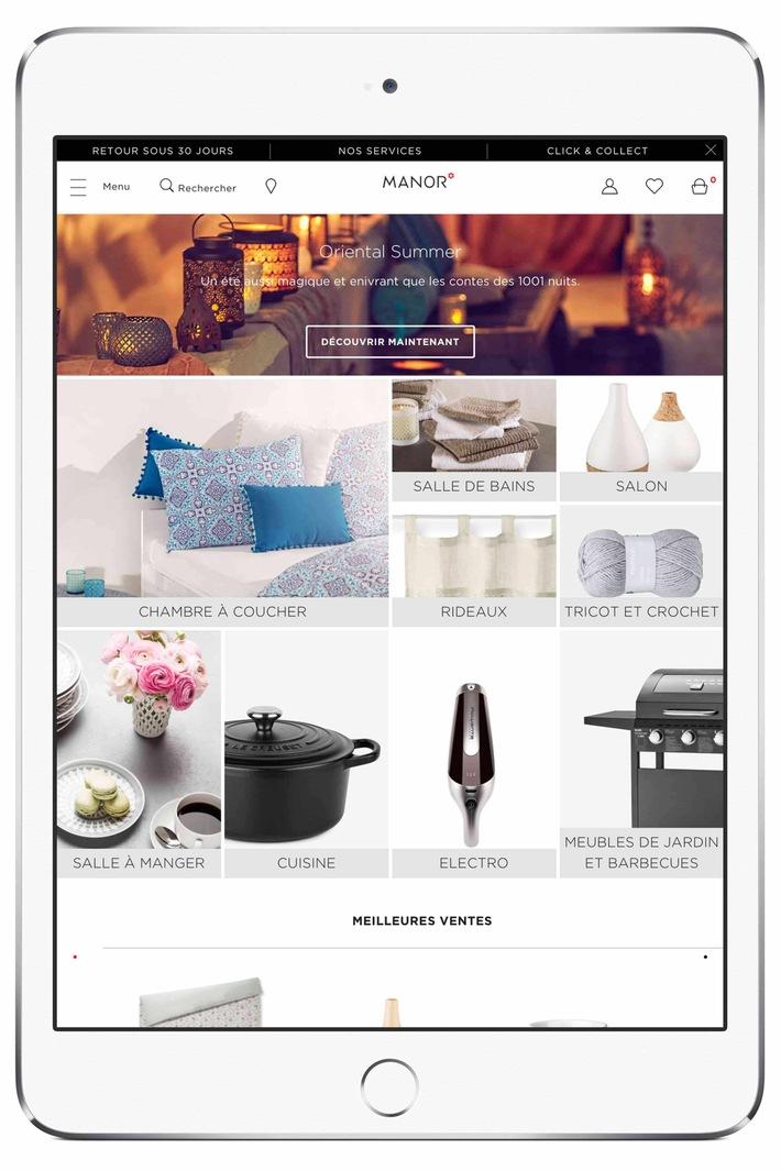 Nuovo assortimento Casa & Casalinghi sul sito online di Manor