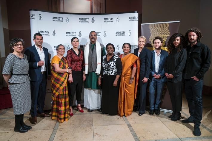 Amnesty Deutschland verleiht den 08. Menschenrechtspreis an Henri Tiphagne aus Indien