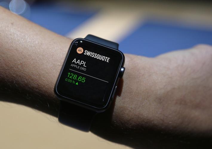Swissquote erste Schweizer Bank mit App für Apple Watch