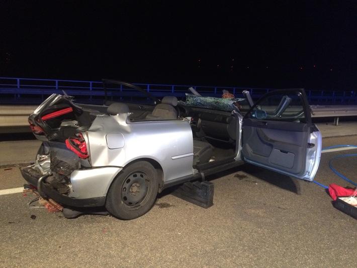 POL-VDMZ: Unfall mit mehreren Verletzten auf der Weinheimer Talbrücke