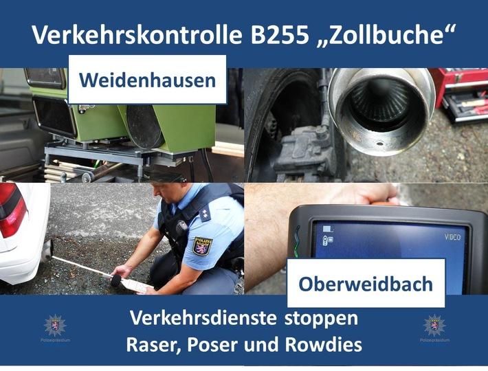 POL-MR: Verkehrsdienste Lahn-Dill und Marburg-Biedenkopf kontrollieren Motorräder und Pkw / kein gemessener Biker zu schnell!