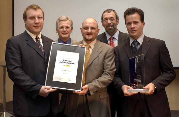 Swisscom Mobile erhält Schweizer Logistik-Preis 2003: Dank innovativer Logistik Reparaturleistungen und Kundenzufriedenheit optimiert