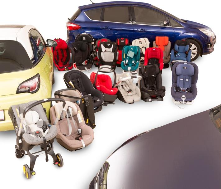 Sièges enfants: restrictions aussi dans les grandes voitures
