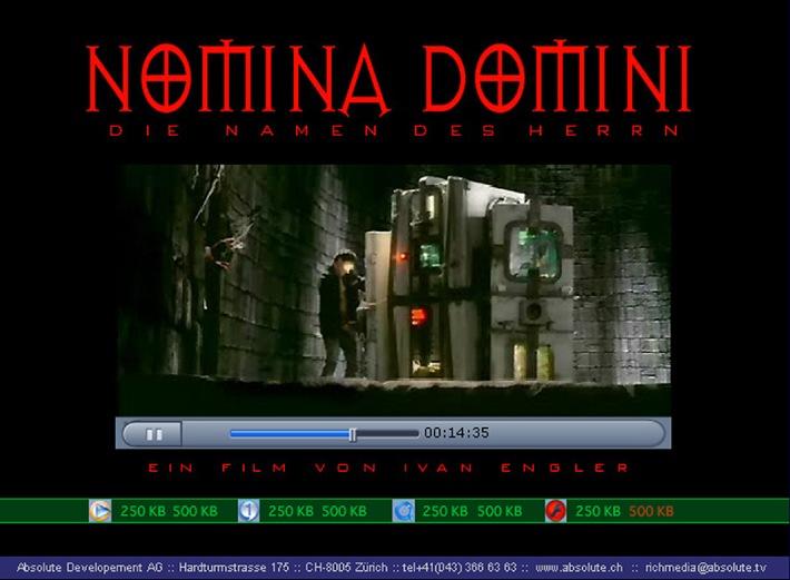 Schweizer Kurzspielfilm NOMINA DOMINI in einer deutlich höheren Qualität im Internet