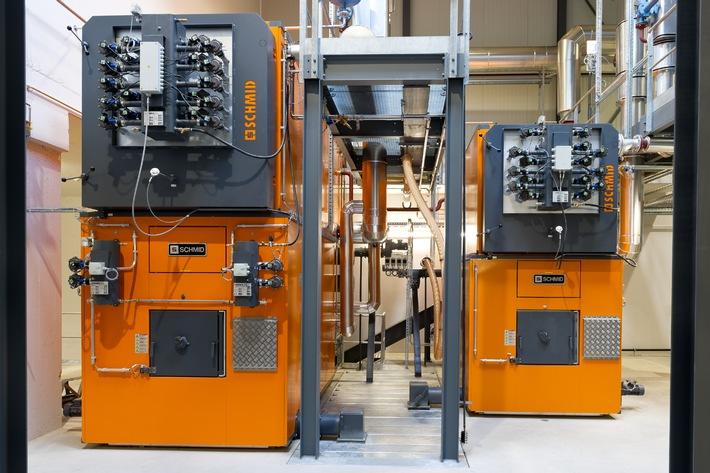 Franke investiert in eine CO2-neutrale Holzschnitzelheizanlage