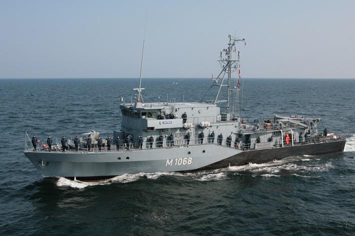 """Minenjagdboot """"Datteln"""" kehrt nach Einsatz im Mittelmeer in die Heimat zurück"""