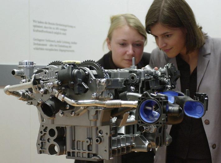 Mercedes-Benz kombiniert die Benzin-Direkteinspritzung erstmals mit Kompressor-Aufladung und Lanchester-Ausgleich
