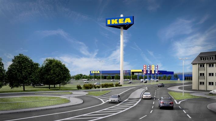 Ein Stockwerk, kurze Wege und ein begrünter Innenhof / Richtfest für IKEA Wetzlar