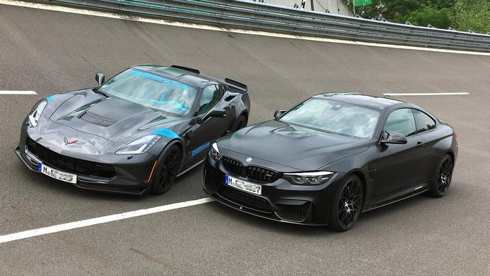 "GRIP - Das Motormagazin: ""BMW M4 Competition gegen Corvette C7 Grand Sport"""