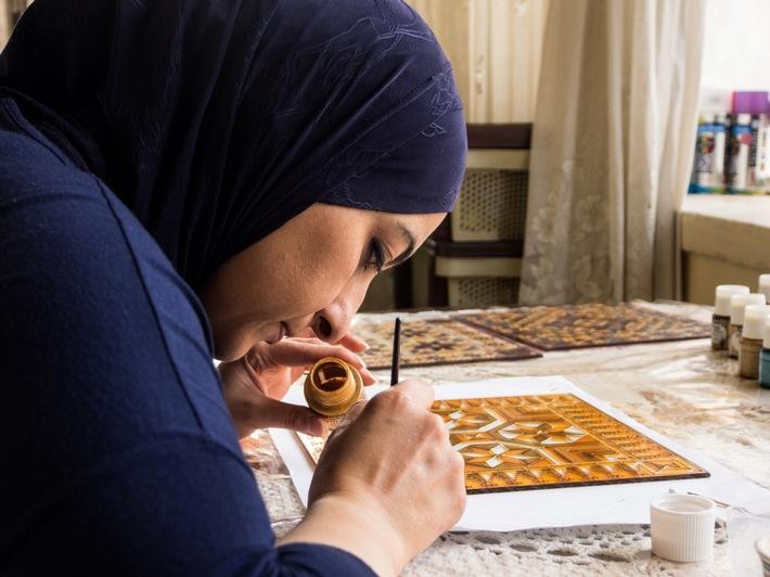 Palästinensisches Kunsthandwerk für den europäischen Markt - Premiere auf dem Bazaar Berlin