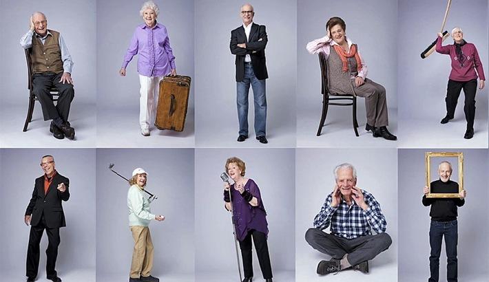 Glückspost und PADMA suchen rüstige Rentner - Zehn fitte Senioren präsentieren sich dem Publikum