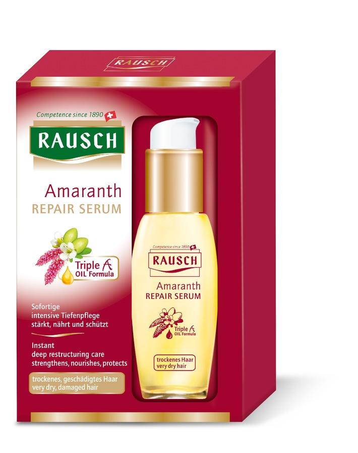 Produktneuheit - RAUSCH Amaranth REPAIR-SERUM für trockenes, sprödes und strapaziertes Haar