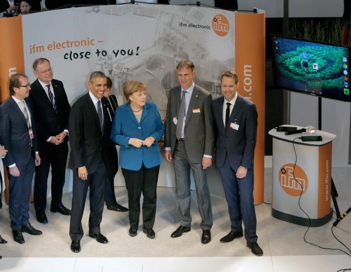 Merkel und Obama besuchen Messestand von ifm