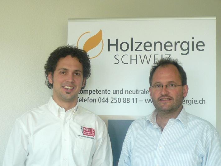 Stabübergabe bei Holzenergie Schweiz