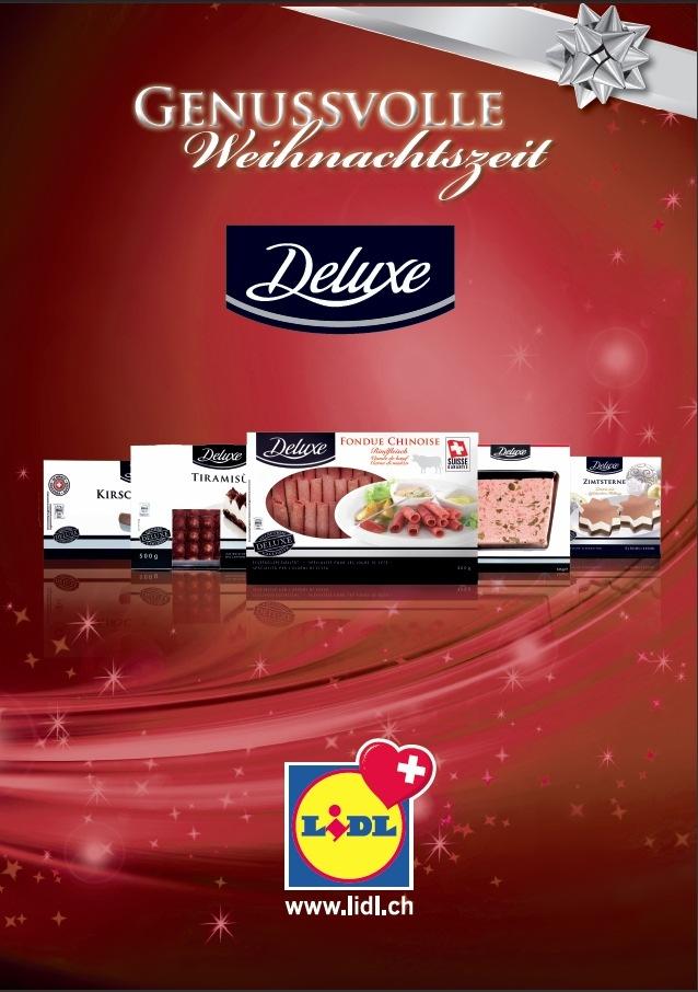 """Lidl Schweiz erweitert in den kommenden Wochen das bereits vorhandene Angebot an hochwertigen Produkten im Premium-Bereich unter der Marke """"Deluxe"""" (Bild)"""