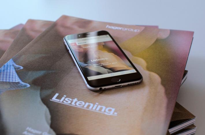 Hager Group Annual Report 2015: Wie ein Unternehmen zuhört (und was daraus entsteht)