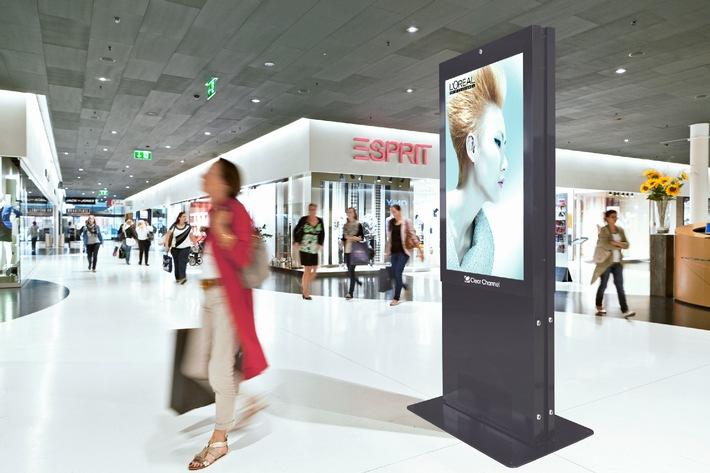 Clear Channel lanciert digitale Werbung in Shoppingcentern