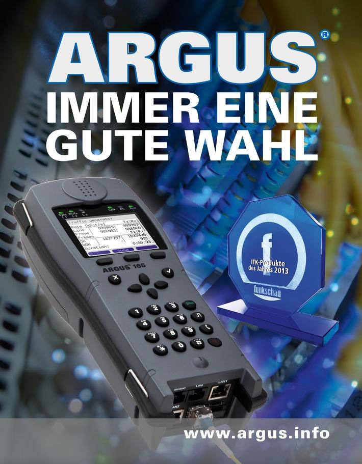 """ARGUS - immer eine gute Wahl: Mit neuester Messtechnik zum """"ITK-Produkt des Jahres 2013"""""""