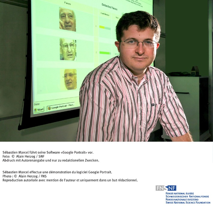 SNF: Bild des Monats September 2007: Informatiker des IDIAP in Martigny bieten dem Riesen Google die Stirn