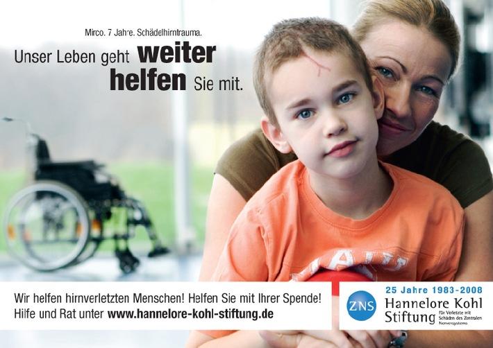 ZNS - Hannelore Kohl Stiftung präsentiert Plakatkampagne 2008 mit dem 7-jährigen Mirco Schäperklaus