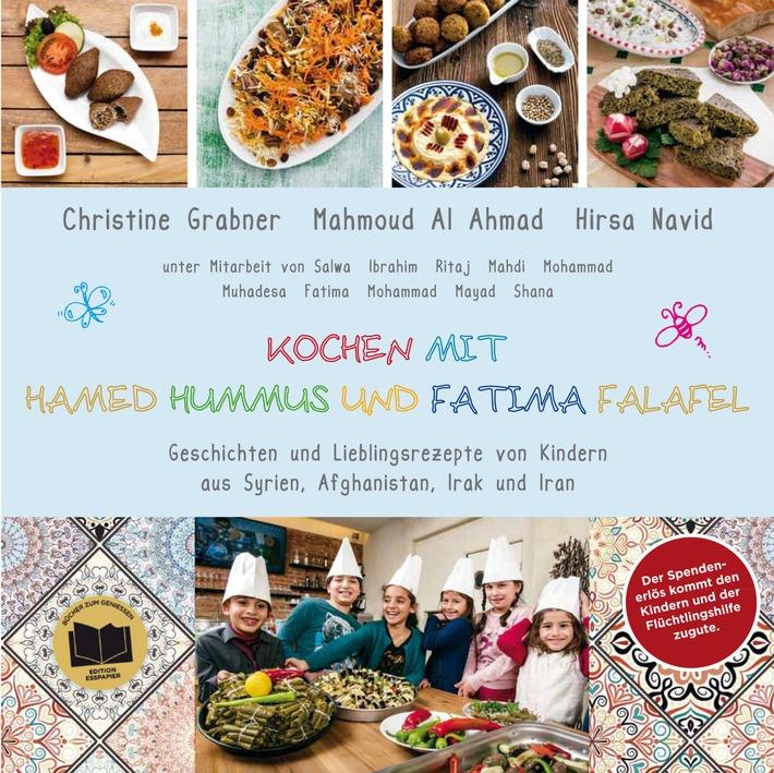 Charity-Kochbuch mit Lieblingsrezepten von Flüchtlingskindern - jetzt im Buchhandel