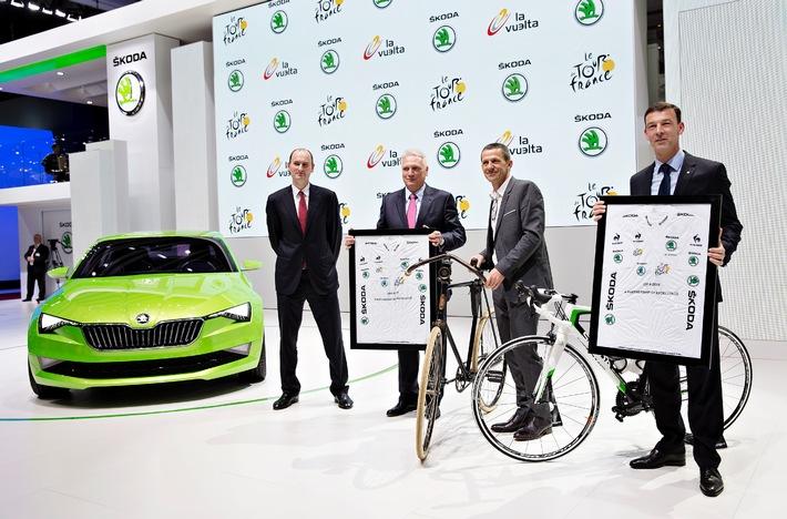 SKODA bis 2018 offizieller Partner der Tour de France