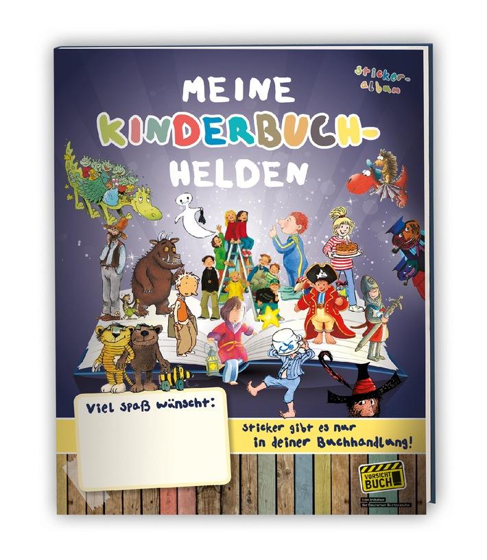 """Vorsicht Buch!: Kinderbuchhelden zum Sammeln und Tauschen / Stickeralbum und Sticker """"Meine Kinderbuchhelden"""" ab 15. September deutschlandweit im Buchhandel"""