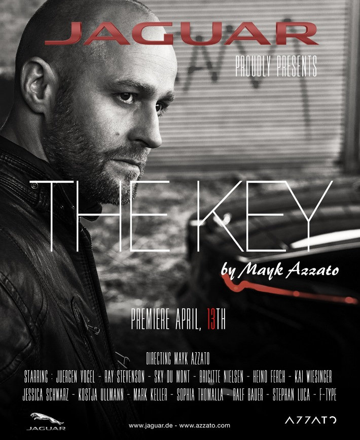 "Art-House-Kunstfilm ""THE KEY"" by Mayk Azzato vereint internationale Stars und automobile �sthetik"