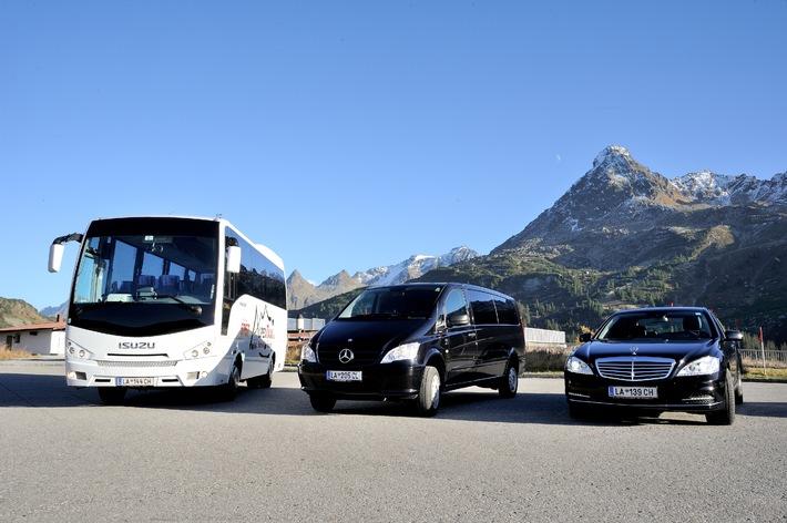 Ischgl: erstes Taxiunternehmen weltweit mit mobilem WLan von free-key ausgestattet - BILD