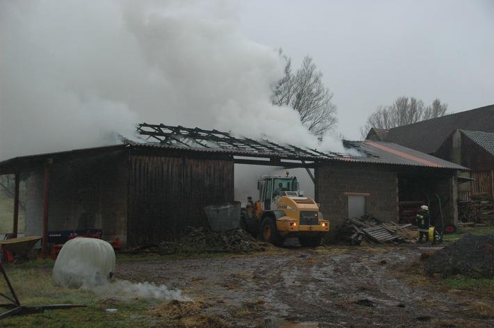 PPSH-ERB: Langenbrombach - Scheune niedergebrannt