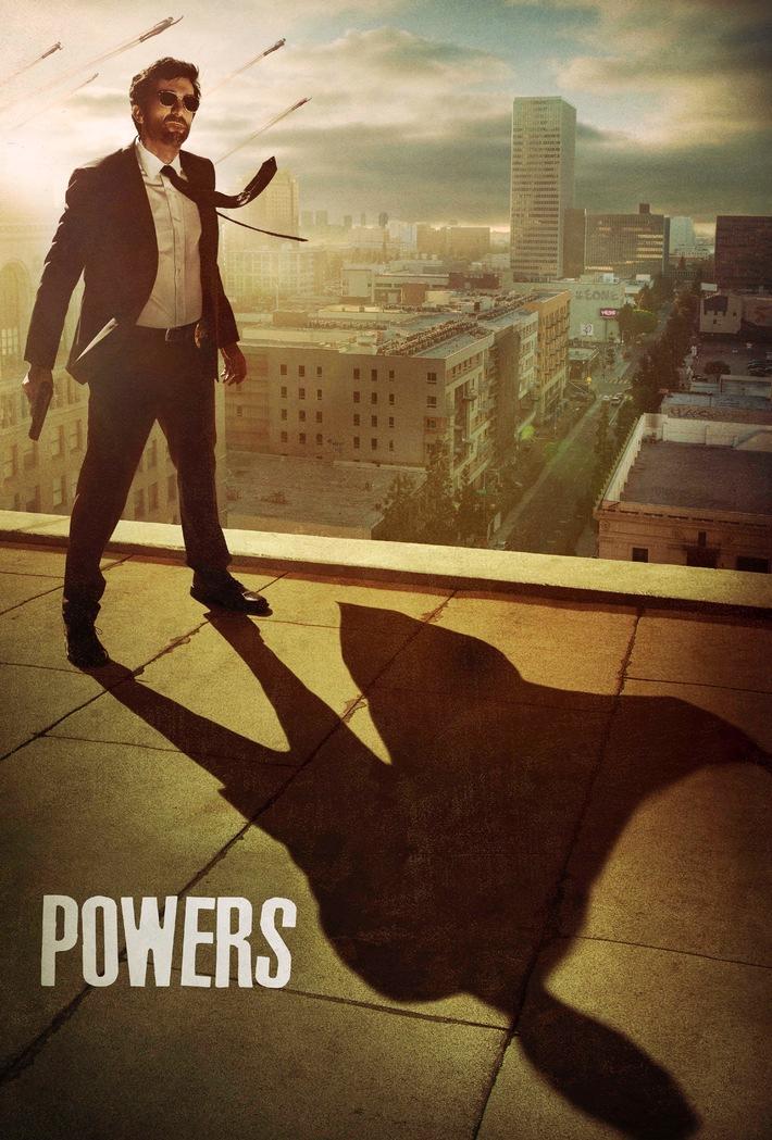 """""""Powers"""" definiert das Superhelden-Genre neu: ab 11. März parallel zum US-Start auf Sky"""