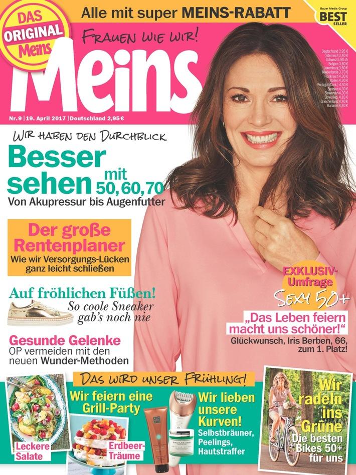 Iris Berben ist die Frau 50plus mit dem größten Sex-Appeal - vor Veronica Ferres und Andrea Berg