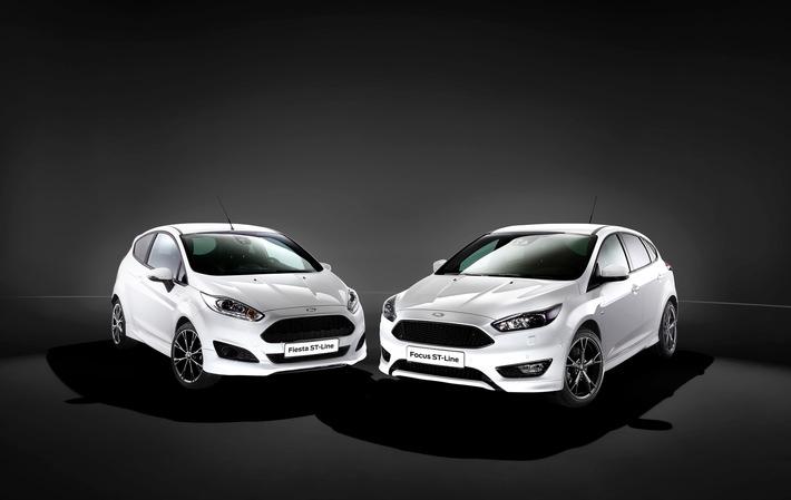 """""""ST-Line"""": Neue, sportliche Ausstattungsvariante für Ford Fiesta und Ford Focus ab sofort bestellbar"""